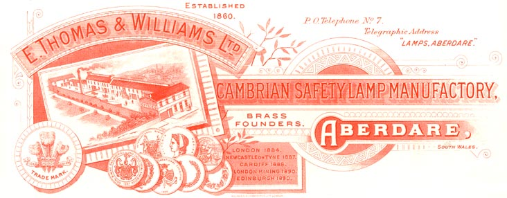 Aberdare - Cambrian Lamp Works - E. Thomas & Williams